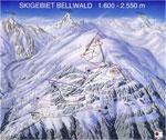Skigebied rond Bellwald